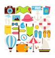 Flat Style Collection of Summer Vacation and vector image vector image
