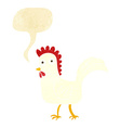 cartoon chicken with speech bubble vector image