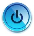 glossy power button vector image vector image
