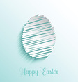Scribble style Easter egg background vector image
