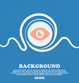 Eye Publish content sign icon Blue and white vector image