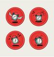 Alarm clock stickers vector image