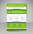 Editable template of flyer for business brochure vector image
