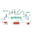 Gardening tools set of Flat design using UI vector image