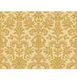 Seamless abstract floral damask background golden vector image