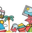 thing that do in the island on vacation background vector image