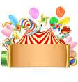 Circus Paper Scroll vector image vector image