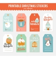 Romantic and love cards notes stickers vector image