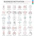 Business motivation ultra modern color vector image