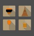 4 iconspagodatalipot fanmonks bowl food vector image