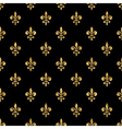 Golden fleur-de-lis seamless pattern black 4 vector image