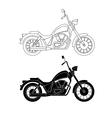 Line chopper motorcycles vector image