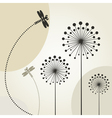 Decorative Dragonflies Background vector image