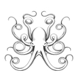 Engraved octopus icon vector image