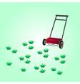 garden lawn-mower eps10 vector image