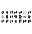 gloves icon set simple style vector image
