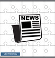 icon news vector image