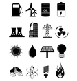 Power Energy Icons Set vector image