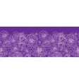 Purple lace flowers horizontal seamless pattern vector image