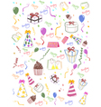 Seamless happy birthday background vector image