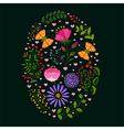 Springtime Colorful Flower Easter Holiday Backgrou vector image