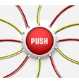 technical button push with wire background vector image