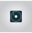 Turntable dj icon vector image