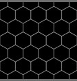 white honeycomb hexagon seamless on black vector image