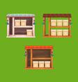Window boxes 21 set vector image