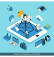 Wireless Technology Isometric Design vector image