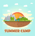 summer camping graphic poster typographic labels vector image