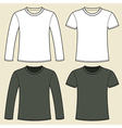 Long-sleeved T-shirt and T-shirt template vector image