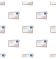 postal envelopemail and postman pattern icon in vector image