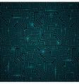 Futuristic Shining Dark Blue Technology Backgorund vector image
