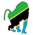 Baboon Tanzania vector image