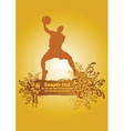 basketball poster2 vector image vector image