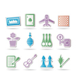 hobby and holiday objects vector image vector image
