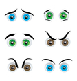 eye expressions vector image vector image