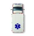 Ambulance Car Top View vector image
