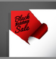 black friday sale text uncovered from teared vector image