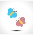 butterflies icon vector image