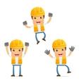 cartoon construction worker vector image