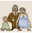 cartoon family scary goblins vector image