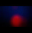 deep blue and red abstract rounded mosaic vector image