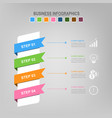 four ribbons for infographics business concept vector image