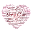 Mother Day heart vector image