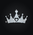 silhouette of crown with glitters silhouette of vector image