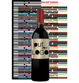 bottle of wine vector image vector image