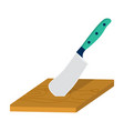 board and cleaver for food processing food and vector image