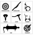bicycle repair parts icon vector image